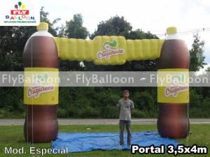 portal inflavel promocional guarana cruzeirense