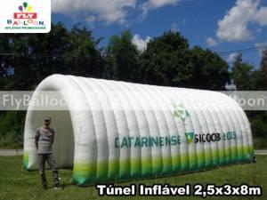 tunel inflavel promocional campeonato catarinense SICOOB 2019