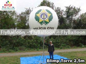 balao blimp inflavel na torre policia civil estado do rio de janeiro