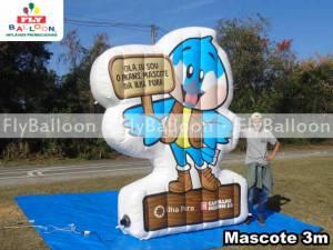 mascote gigante inflavel promocional ilha pura carvalho hosken no Rio de Janeiro - RJ