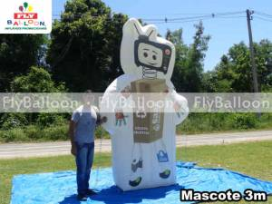 mascote gigante inflavel promocional saae barra mansa