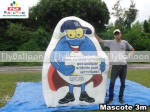 mascote gigante inflavel promocional unilever