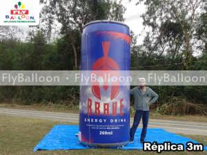 replica gigante inflavel promocional brave energy drink