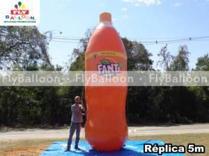 replica gigante inflavel promocional fanta laranja retornavel