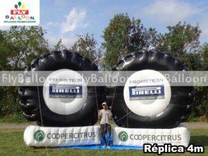 replicas inflaveis promocionais pneu pirelli prometeon em bebedouro - SP