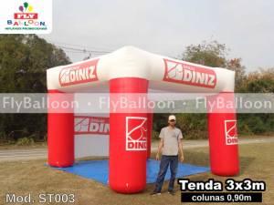 tenda inflavel promocional oticas diniz