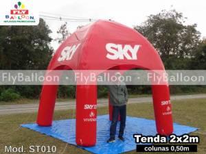 tenda inflável promocional sky pre pago