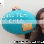 mobile inflavel promocional aqui tem oi chip