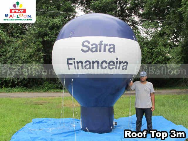 balao inflavel promocional roof top safra financeira