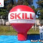balao inflavel promocional roof top skill idiomas