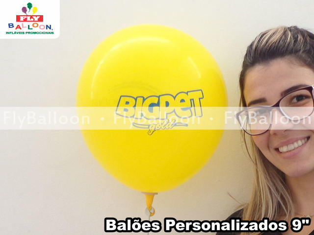 baloes personalizados big pet gold