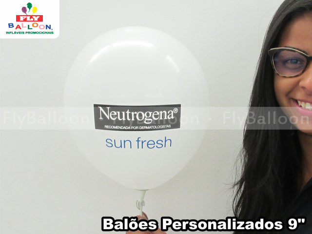 baloes personalizados neutrogena sun fresh