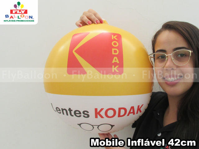 mobile inflavel promocional lentes kodak