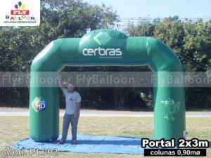 portal inflavel promocional cerbras ceramicas do brasil