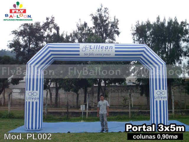 portal inflavel promocional lillean calcados