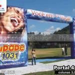 portal inflavel promocional personalizado radio cidade 103