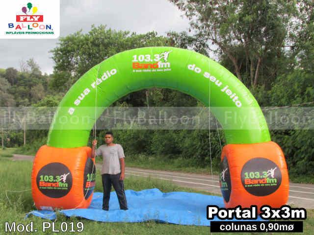 portal inflavel promocional radio band fm 103