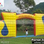 portal inflavel promocional radio jovem pan taubate