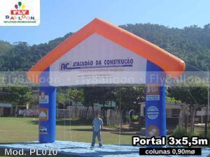 portico inflavel promocional atacadao da construcao