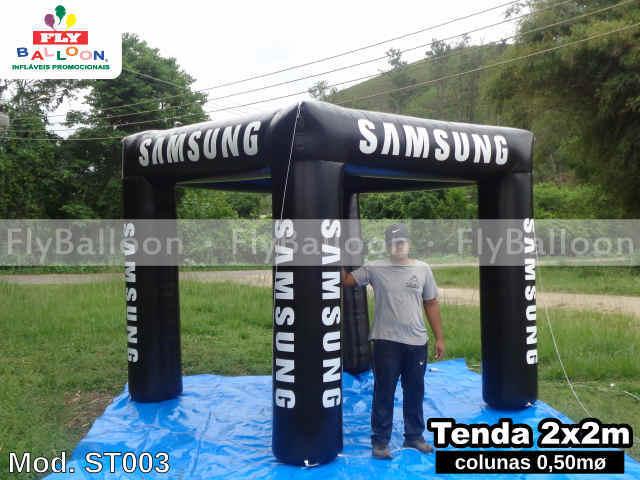 tenda inflavel promocional samsung