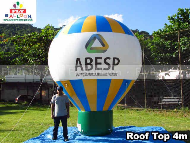 balao promocional roof top ABESP protecao veicular