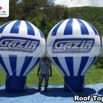 baloes inflaveis promocionais roof top gazin colchoes
