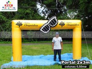 portal inflavel promocional optica orquidea