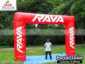 portal inflavel promocional rava cycle