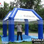 tenda inflavel personalizada estacio