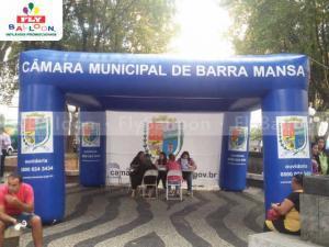 tenda inflavel promocional camara municipal de barra mansa