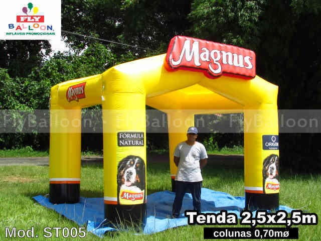 tenda inflavel promocional racao magnus