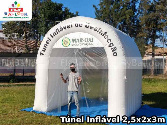 tunel inflavel personalizado de desinfeccao mar oxi sanitizacao
