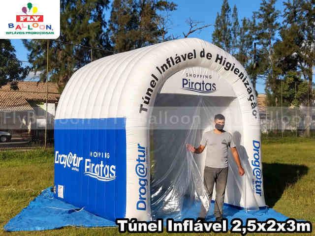 tunel inflavel de higienizacao shopping piratas e Drogatur