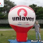 balao inflavel promocional roof top uniaves