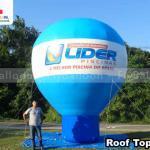 balão promocional inflável roof top consórcio nacional lider piscinas