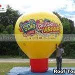balao promocional inflavel roof top radio fm o dia
