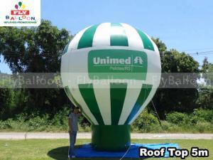 balão promocional inflável roof top unimed pelotas rs