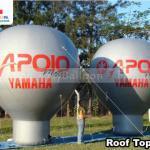 baloes inflaveis promocionais roof top concessionaria apoio motos yamaha