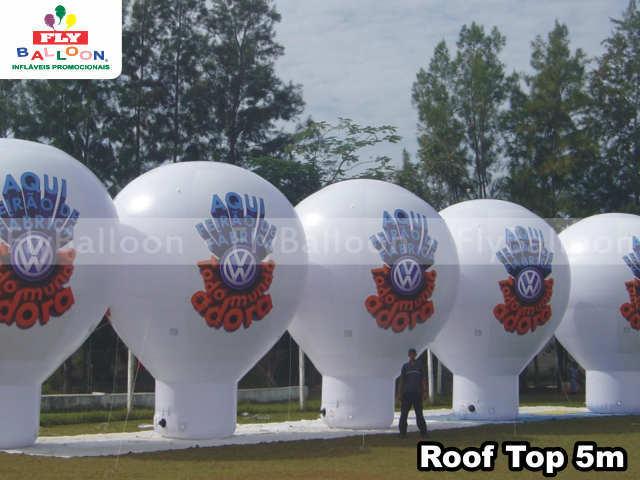 balões promocionais roof top feirão de fábrica volkswagen