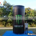 replica inflavel gigante promocional lata monster energy