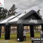 tenda inflável promocional jeep