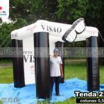 tenda inflável promocional óptica visão