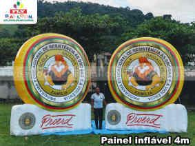 paineis inflaveis promocionais PROERD brigada militar do RS