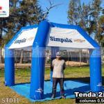 tenda inflável promocional simpala chevrolet