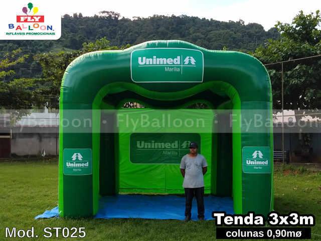 tenda inflável promocional unimed marília