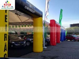 Portais infláveis promocionais feirão