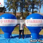 balões infláveis promocionais consórcio yamaha