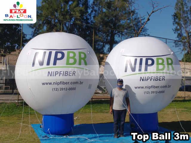 baloes inflaveis promocionais top ball nipfiber internet fibra otica em Sao Jose dos Campos - SP