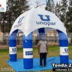tenda inflável personalizada unopar