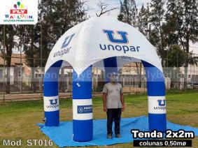 tenda inflavel personalizada unopar